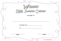 Ugly Sweater Winner Certificate Template FREE Printable 5