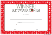 Ugly Sweater Winner Certificate Template FREE Printable 6
