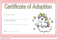 Unicorn Adoption Certificate Free Printable (Adorable Design)