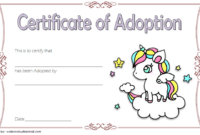 Unicorn Adoption Certificate Free Printable (Fantasy Theme)