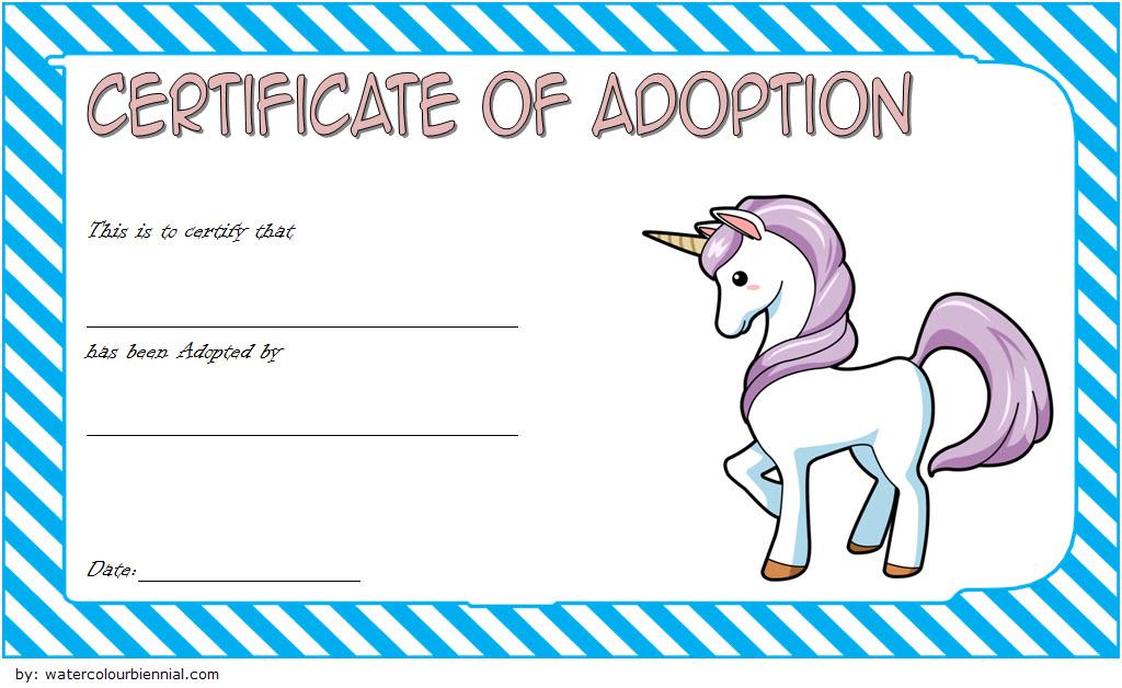 unicorn adoption certificate free printable, unicorn adoption certificate printable, free printable unicorn adoption certificate