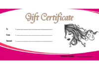 Valentines Day Massage Gift Certificate Template FREE 1