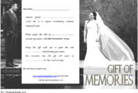 Wedding Photo Session Gift Certificate Template Free Printable