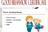 good behavior certificate template, good behavior award certificate, good behavior certificates for kindergarten, good behavior certificate printable, good behavior certificates for students