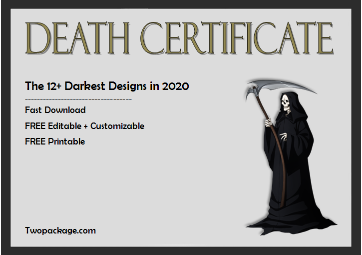 12+ Untold Death Certificate Templates Free Download
