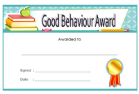 2nd Good Behavior Award Certificate Template for Student
