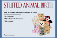 stuffed animal birth certificate template, printable stuffed animal birth certificate, stuffed animal birth certificate free, stuffed toy birth certificate