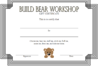 Build a Bear Workshop Gift Certificate Template Free Printable 1