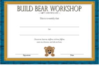 Build a Bear Workshop Gift Certificate Template Free Printable 2