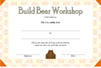 Build a Bear Workshop Gift Certificate Template Free Printable 3