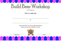 Build a Bear Workshop Gift Certificate Template Free Printable 4