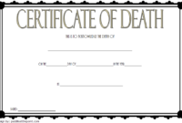 California Death Certificate Template Free