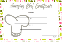 Chef of The Month Certificate Template Free 1