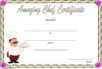 Chef of The Month Certificate Template Free 3