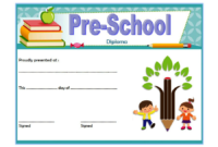 Diploma Certificate for Preschool FREE Printable 1
