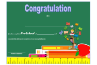 Diploma Certificate for Preschool FREE Printable 2