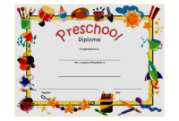 Diploma Certificate for Preschool FREE Printable 3