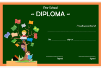 Diploma Certificate for Preschool FREE Printable 4