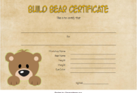 FREE Build a Bear Workshop Birth Certificate Template Printable 3