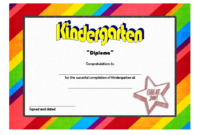 FREE Printable Kindergarten Completion Certificate 1