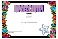 FREE Printable Kindergarten Completion Certificate 2
