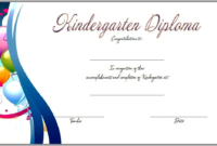 FREE Printable Kindergarten Completion Certificate 3