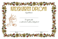 FREE Printable Kindergarten Completion Certificate 4