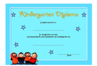 FREE Printable Kindergarten Completion Certificate 5