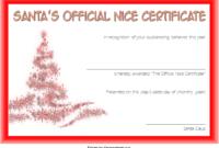 FREE Santa's Nice List Certificate Template 2
