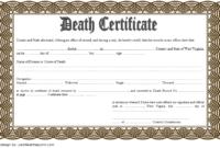 Free Blank Death Certificate Template 1