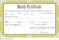 Free Blank Death Certificate Template 2