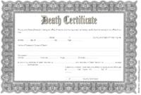 Free Blank Death Certificate Template 3