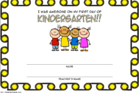 Free First Day of School Certificate Printable 2