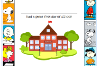 Free First Day of School Certificate for Preschool 1