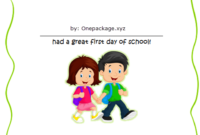Free First Day of School Certificate for Preschool 2