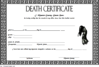 Free Haunted Mansion Death Certificate 2019 Template 1