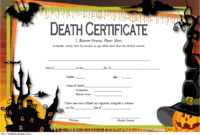 Free Haunted Mansion Death Certificate 2019 Template 2