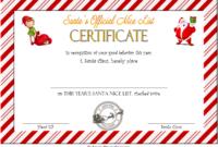 Free Printable Elf on The Shelf Nice List Certificate 1