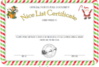 Free Printable Elf on The Shelf Nice List Certificate 2
