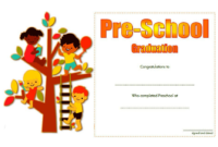 Free Printable Preschool Graduation Certificate Template 1