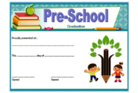Free Printable Preschool Graduation Certificate Template 2