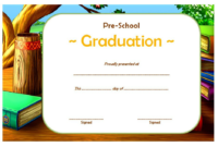 Free Printable Preschool Graduation Certificate Template 4