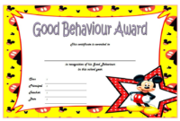 Good Behavior Award Certificate Free Printable 2