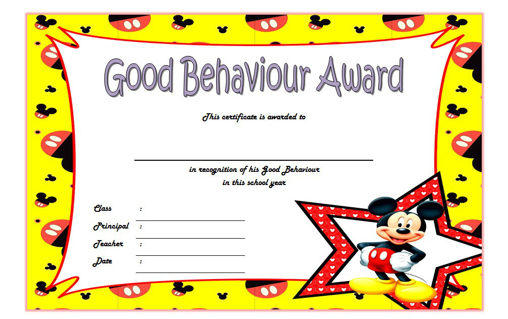good behavior certificate template, good behavior award certificate, good behavior certificates for kindergarten, good behavior certificate printable, good behavior certificates for students