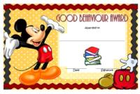 Good Behavior Award Certificate Free Printable 4