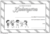 I Survived My First Day of School Certificate FREE Printable 2