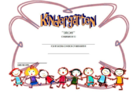 Kindergarten Diploma Certificate Free Download 3