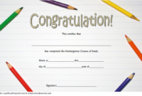 Kindergarten Graduation Certificate Editable Free 1