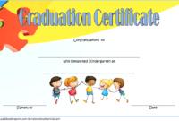 Kindergarten Graduation Certificate Editable Free 2