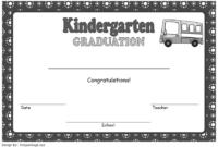 Kindergarten Graduation Certificate Free Printable 1